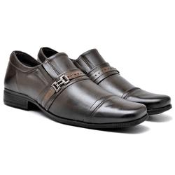 Sapato Social Masculino - 6120 café - Kauany Calçados