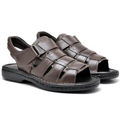 Sandália Couro Linha Conforto 521 – Café - 521 - Kauany Calçados
