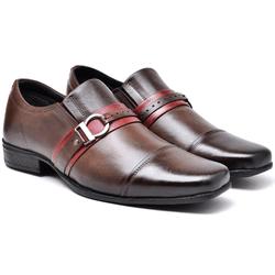 Sapato Social Masculino - 6121 Classic gel - Café... - Kauany Calçados