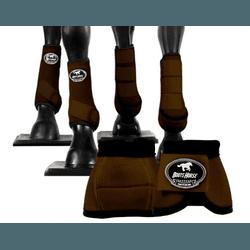 Kit Completo Cloche e Caneleiras Color Marrom Boot... - LETÍCIA COUNTRY IMPORT'S