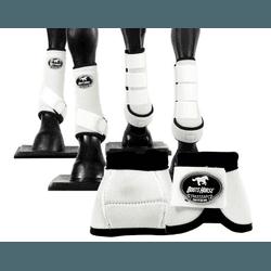 Kit Completo Cloche e Caneleiras Color Branco Boot... - LETÍCIA COUNTRY IMPORT'S