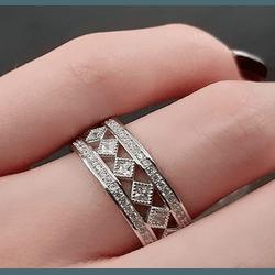 Anel de Prata com Ródio - 003382ANZC - MAGNIFIQUE