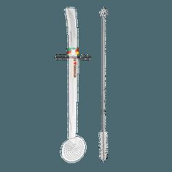 Bomba Inox com Aplique e Rosca 23 Cm - Mate Shop