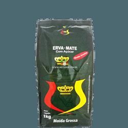 Erva-Mate Rei Verde Moída Grossa com Açúcar 1Kg - Mate Shop