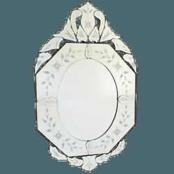 Espelho Oitavado Londres - Moldura Trabalhada - 06 - MOVEIS ANTIGUS