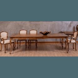 Sala de Jantar Com Mesa Tommy (2,30m) + 10 Cadeira... - MOVEIS ANTIGUS