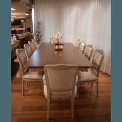 Conjunto Mesa de Jantar Antique Retangular Com Doi... - MOVEIS ANTIGUS