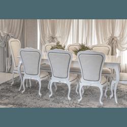 Conjunto Mesa de Jantar Vintage (2,20m) + 2 Cadeir... - MOVEIS ANTIGUS