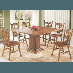 Sala De Jantar Com Mesa, 6 Cadeiras Imbuia 100% Ma... - MOVEIS ANTIGUS