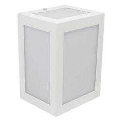 Arandela Externa Quadrada Branca Ideal 290 BMT - Nicolucci
