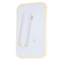 Arandela Luminária Cabeceira de Cama Branca Led 10... - Nicolucci
