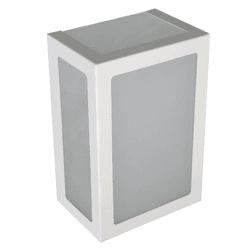 Arandela Retangular Branca 5 Vidros 20cm 6213 - Nicolucci