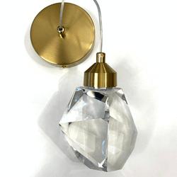 Pendente Led Dourado em Metal e Cristal Bivolt Sin... - Nicolucci