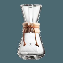 Passador de Café Chemex com Alça de Madeira 3 Xíca... - NOSTRO SOLO
