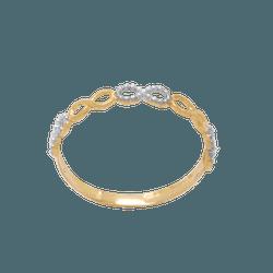 Anel de Ouro Feminino Infinito - OV/AN19960-2 - Ouro Vale Joias