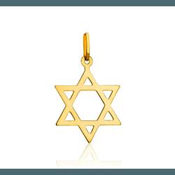 Pingente Estrela de Davi em ouro 18k - OV/P998-1 - Ouro Vale Joias