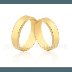 Aliança Chanfrada em Ouro 18k - JC/60 - Ouro Vale Joias