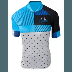 Camisa Cabani Feminino Lady Branco/Azul/Preto - 30... - PEDAL PRÓ Bike Shop