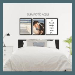 Kit Quadros Decorativos Personalizados Fotos - Q! Bacana