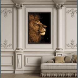 Quadro Decorativo Leão - Q! Bacana