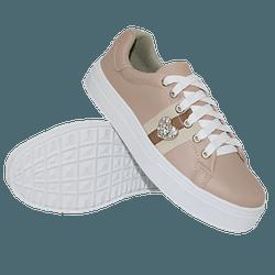 Tênis Casual Coração Rosê DKShoes - Rilu Fashion