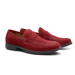 Sapato Masculino Loafer Vermelho Calhetas - RITUCCI