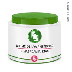 Creme de Uva, Amêndoas e Macadâmia 120g Pote - Seiva Manipulação   Produtos Naturais e Medicamentos