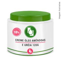 Creme Óleo Amêndoas e Ureia10% 120g - Seiva Manipulação | Produtos Naturais e Medicamentos