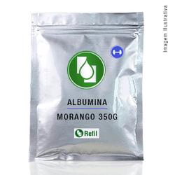 Albumina Morango 350g Refil - Seiva Manipulação | Produtos Naturais e Medicamentos