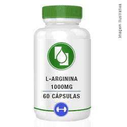L Arginina 1000mg 60 cápsulas - Seiva Manipulação   Produtos Naturais e Medicamentos