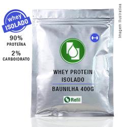 Whey Protein Isolado 90% Baunilha 400g Refil - Seiva Manipulação | Produtos Naturais e Medicamentos