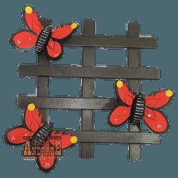 Treliça Borboleta Vermelha - Selaria Irmãos Andrade