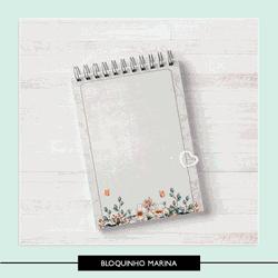 Miolo para Bloquinho - Marina - MBM845 - Studio Office K