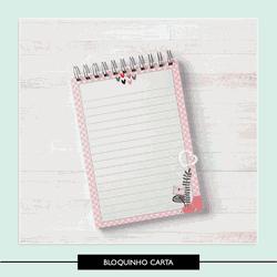 Miolo para Bloquinho - Carta Rosas - MCR33O - Studio Office K