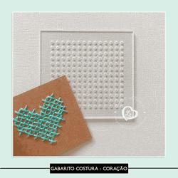 Gabarito Costura - Coração - GABCOR - Studio Office K