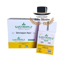 Santropez Menta - Display com 10 maços de 20 cigar... - TABACARIASALESOLIVEIRA