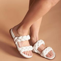 Sandália Papete OFF WHITE tranças - Mezzo Punto