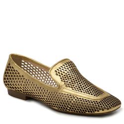 Sapato Com Laser Metalizado Cristal Ouro - Mezzo Punto