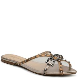 Sapato Mule Em Couro Cristal Bronze - Mezzo Punto