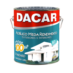 TINTA ACRÍLICA FOSCO BRANCO NEVE MEGA 3,6L DACAR - TINTAS JD