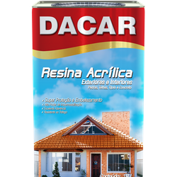 RESINA ACRÍLICA BASE SOLVENTE 18L DACAR - TINTAS JD