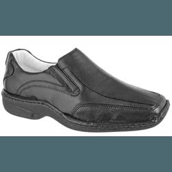 Sapato Social de Conforto Masculino Anatomico Pret - Top Franca Shoes | Calçados confortáveis em Couro