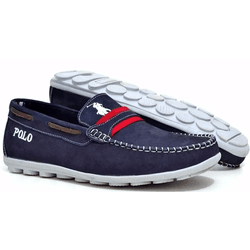 Mocassim Masculino em Couro Polo Marinho - Top Franca Shoes | Calçados confortáveis em Couro