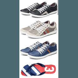 Kit 3 Tênis Sapatenis Chinelo Masculino Casual Top... - Top Franca Shoes | Calçados confortáveis em Couro