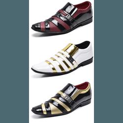kit 3 Pares Sapato Social Masculino Em Verniz - Top Franca Shoes | Calçados confortáveis em Couro