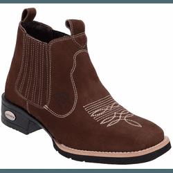 Bota Texana Country Masculina Rodeio de Couro Nobu... - Top Franca Shoes | Calçados confortáveis em Couro