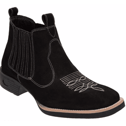 Bota Texana Country Feminina Rodeio de Couro Nobuc... - Top Franca Shoes | Calçados confortáveis em Couro