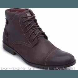 COTURNO CASUAL RÚSTICO MASCULINO CAFÉ 2065 - Top Franca Shoes | Calçados confortáveis em Couro