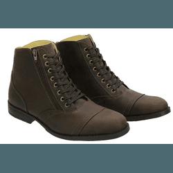 Bota Coturno Masculino de Couro Rústico Café - Top Franca Shoes | Calçados confortáveis em Couro