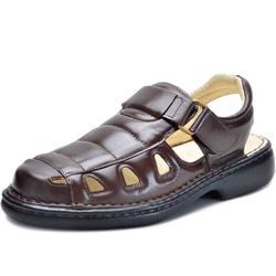 Sandália Masculina Ortopédica Anatomica de Couro C... - Diconfort Calçados | Calçados confortáveis e anatômicos